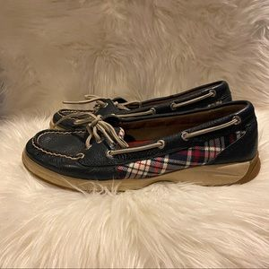 Blue checkered SPERRY